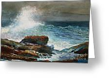 Incoming Tide Scarboro Maine Greeting Card