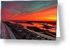 Incredible Point Sunset Greeting Card