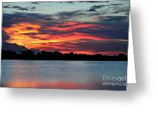 Incredible Red Sky  Greeting Card