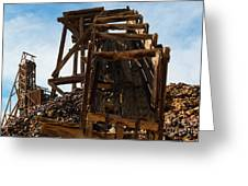 Independence Gold Mine Ruins Greeting Card