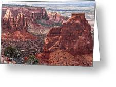 Independence Monument At Colorado National Monument Greeting Card