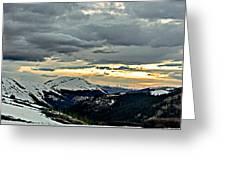 Independence Pass Sunset Greeting Card