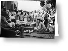 India: Malaria Play, C1929 Greeting Card