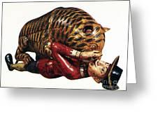 India: Tiger Attack Greeting Card