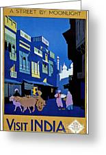 India Travel Poster Greeting Card