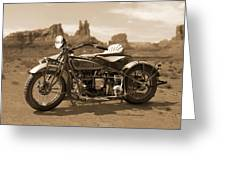 Indian 4 Sidecar Greeting Card