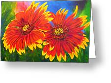 Indian Blanket Flowers Greeting Card by Mary Jo Zorad