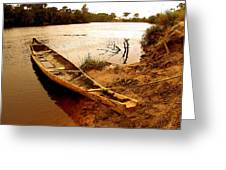 Indian Boat Greeting Card