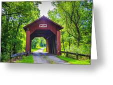 Indian Camp Covered Bridge Greeting Card