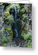 Indian Canyon Waterfall Greeting Card