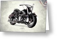Indian Chief Roadmaster 1953 Greeting Card