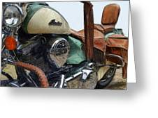 Indian Chief Vintage L Greeting Card