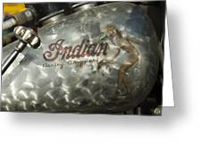 Indian Chopper Gas Tank Greeting Card