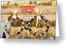 Indian Corn Wreaths Greeting Card