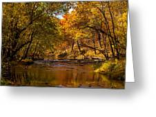 Indian Creek In Fall Color Greeting Card