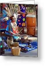 Indian Dancer Drummer 0650 Greeting Card