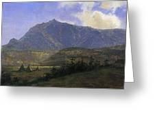 Indian Encampment Albert Bierstadt Greeting Card
