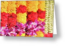 Indian Flower Garland Greeting Card