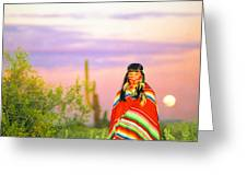 Indian Full Moon Southwest Sunset Greeting Card