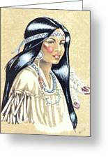 Indian Girl Greeting Card