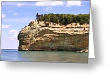Indian Head Rock Greeting Card