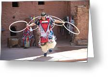 Indian Hoop Dancer Greeting Card