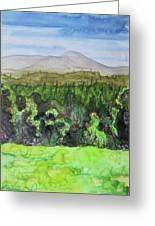 Bullhead Mountain, Indian Lake Overlook Panorama 3 Greeting Card