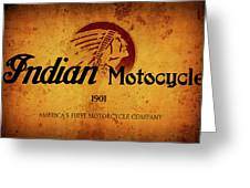 Indian Motocycle 1901 - America's First Motorcycle Company Greeting Card