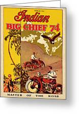 Indian Motorcycle Big Chief 74 Greeting Card