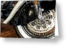 Indian Motorcycle Wheel Greeting Card