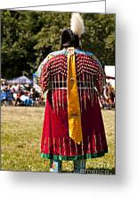 Indian Nation Pow Wow Dancers Greeting Card