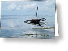 Indian Ocean At Lowtide Greeting Card