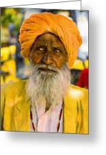 Indian Old Man Greeting Card
