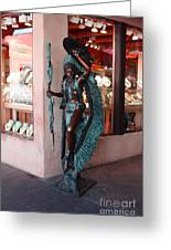 Indian On The Square Sante Fe Nm Greeting Card