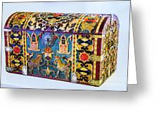 Indian Portuguese Chest Greeting Card