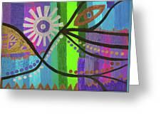 Indian Rainbow Dance Greeting Card