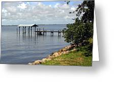 Indian River In Indialantic Florida Greeting Card