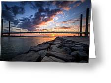 Indian River Inlet And Bay Sunset Greeting Card