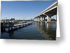 Indian River Lagoon At Vero Beach In Florida Greeting Card