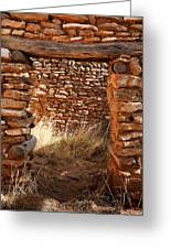 Indian Ruins Doorway Greeting Card