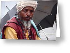 Indian Saint-1 Greeting Card