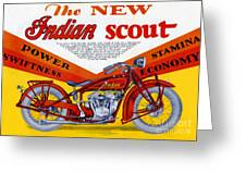 Indian Scout Greeting Card