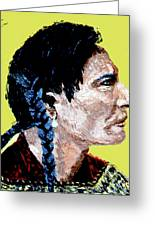 Indian Side Profile Greeting Card
