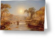 Indian Summer On The Delaware River Greeting Card