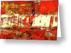 Indian Summer - Red Contemporary Abstract Greeting Card