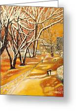 Indian Summer Wish Greeting Card by Milagros Palmieri