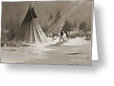 Indian Tee Pee Greeting Card