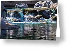 Indian Wells Waterfall Greeting Card
