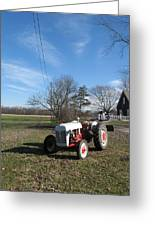 Indiana Hwy 63 South Vintage Ford Tractor Color Version Greeting Card
