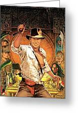 Indiana Jones Raiders Of The Lost Ark 1981 Greeting Card